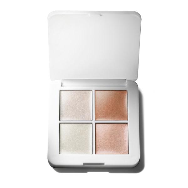 RMS Beauty Luminizer X quad organiczny kosmetyk rozświetlający w białym pudełeczku dostępny w butiku Beauty Rebel