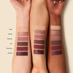 ILIA The Necessary Shadow Palette Cool Nude Swatches arm